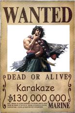 Karakaze wanted