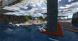Claremont Airport Docks, looking SE (12-12) 001