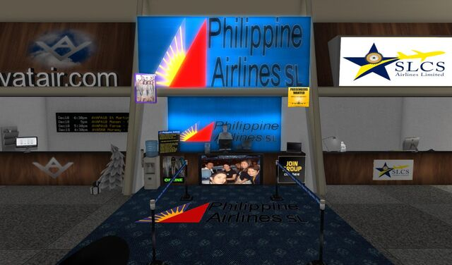 File:Philippine Airlines check-in and info booth at SLGR 01 001.jpg