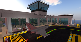 St Tropez Airport Terminal, looking NW (12-14)