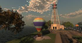 Bay City Airship Terminal landing ballon