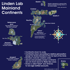 Linden Lab Mainland Continents