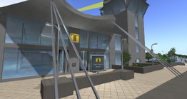 Twin Towers Airport Terminal Entrance (04-14)