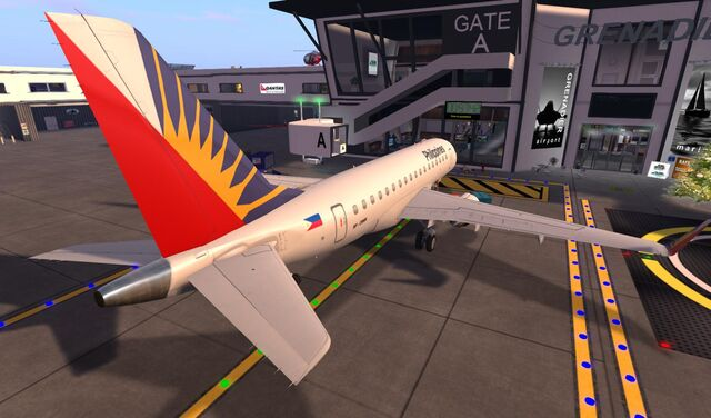 File:Philippine Airlines at GATE of home base SLGR Grenadier 10 001.jpg