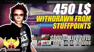 Withdrew 450 Linden Dollars From StuffPoints ★ Earning Linden Dollars In Second Life (Vlog)