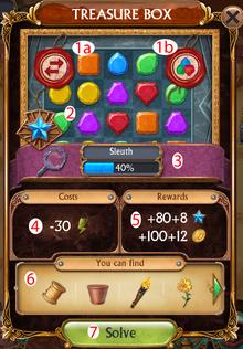 Treasure Box solve window