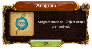 Anagram mode information box
