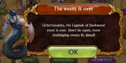 Special Event End Notice