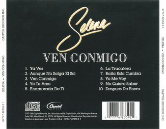 Ven conmigo back cover 1990