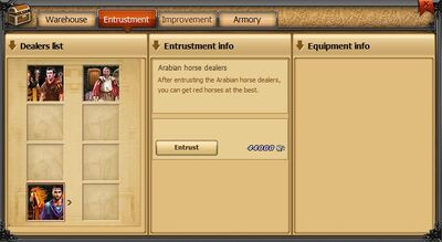 Armory tab entrustment