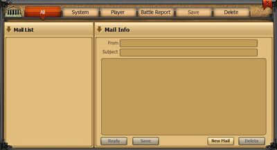 Mail tab - all