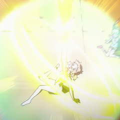 Hibiki activating Gungnir for the first time