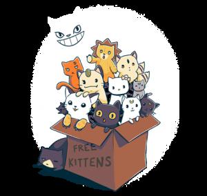 Teefury free kittens featuring artemis and luna-300x284