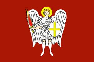 Прапор Війська Запорозького Низового (оборотна сторона)