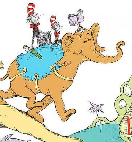 File:The brown elephant from i can read with my eyes shut.jpg