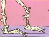 Blinn pins dinn's shinbones right back in
