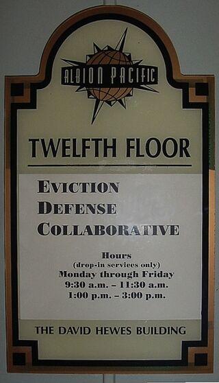 Eviction defense collaborative sign