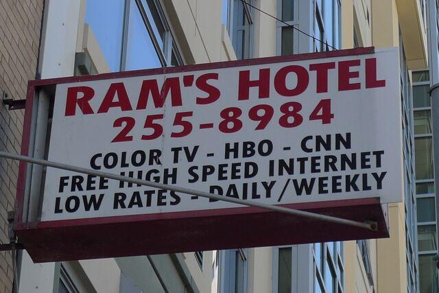 File:Ram's Hotel sign.jpg