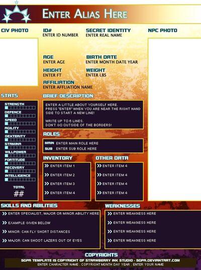 YoungJustice SGPA NPC template simple