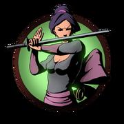 Girl sword old