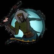 Ninja man nunchaku old