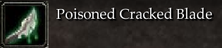 Poisoned Cracked Blade