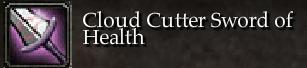 Cloud Cutter Sword of Health