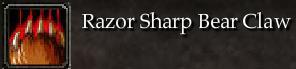 Razor Sharp Bear Claw