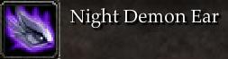 Night Demon Ear