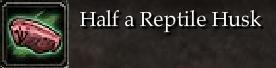 Half a Reptile Husk