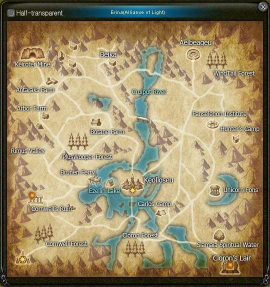 Map Erina Clean