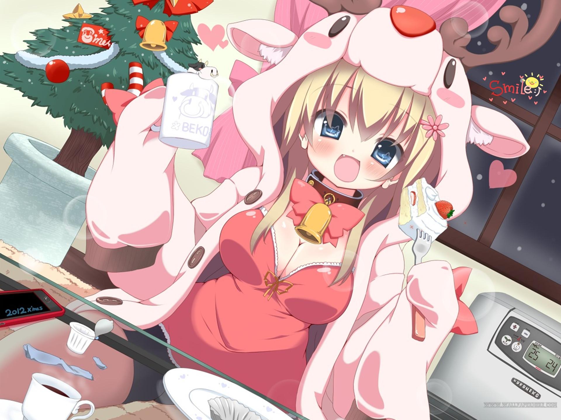 Image - Anime Christmas Girl Wallpaper 1920x1440.jpg | Shake It Up ...