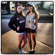 Bella-thorne-with-pal-in-white-cap