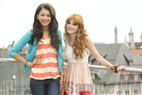 96962 Preppie Bella Thorne and Zendaya Coleman posing for a photo shoot on a hotel in Munich 18 122 166lo