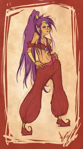 File:Shantae sketch by keeru-d34g3hp.png