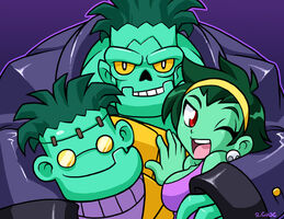 A zombie family by rongs1234-d6noekz