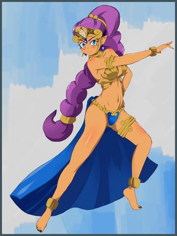 File:Shantae Tan Line Island Princess by Stalemeat.PNG