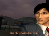 Shen Now while backing up kick