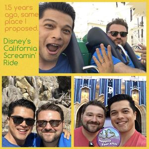 Vincent Rodriguez and his husband Gregory Wright Instagram photo