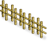 Bamboo Fence (right)