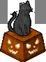 Black Cat Statue (Right)