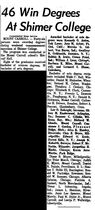 1963-06-06.Morning Star.46 Win Degrees At Shimer College