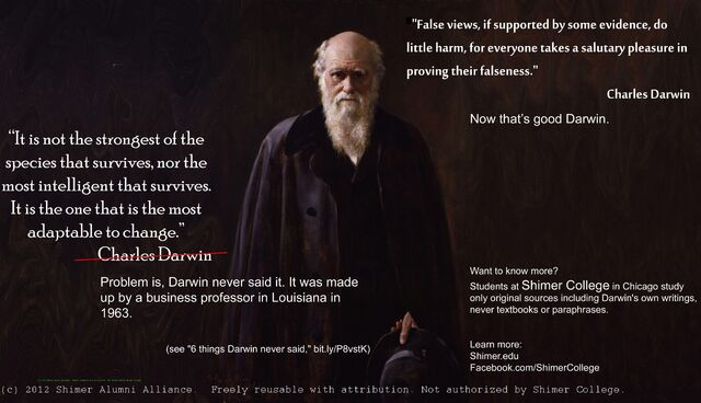 File:Charles Darwin It is not the strongest of the species that survives.jpg