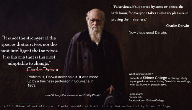 Charles Darwin It is not the strongest of the species that survives
