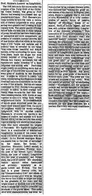 Rockford Register.1885-02-18.Prof Hazzens Lecture