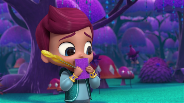 File:Kaz with His Journal Shimmer and Shine.png