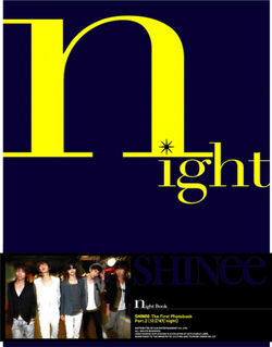 Shinee Night Photobook Dvd Combo
