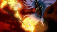 Jeanne killing Pazuzu
