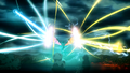Bahamut fighting against Satan, Zeus and Odin.png