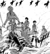 Squad Levi surrounds Eren